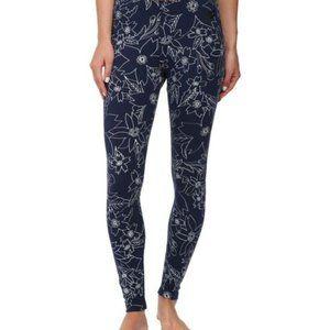 Nike navy blue w/ white floral yoga leggings XS